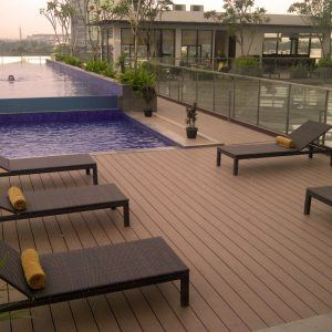 Side pool decking installation Brisbane